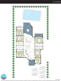 Floor plan showing all 5 bedrooms.  You have chosen the 4 bedroom option