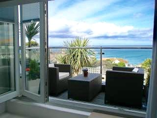 Front balcony with sea views