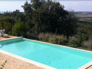 Fonte della Pace with private pool and olives