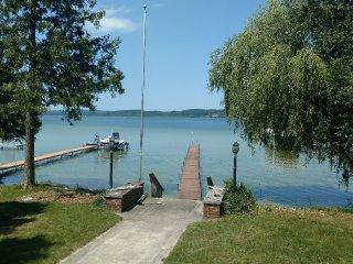 Lake Leelanau Lakefront Home with dock, beautifu,l sand bottom, clean swimming