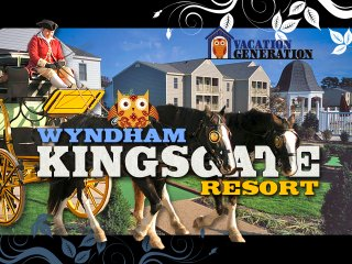 Wyndham Kingsgate Resort ツ 2BR/2BA Equipped Condo Rental in Williamsburg!