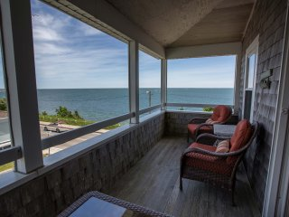 Large Cape Cod Oceanfront Beach House - Steps to Falmouth Heights Beach