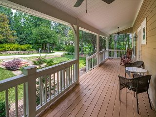 Covered front porch.