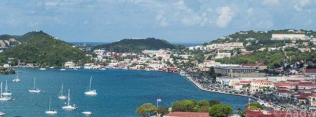 Beautiful Downtown Charlotte Amalie from Balcony