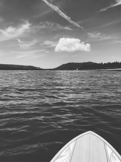 View while SUPing on the lake
