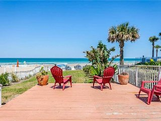Three dog-friendly oceanfront/view condos w/ balconies, deck - walk out to sand!