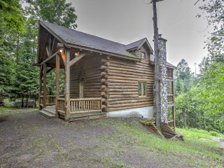 New! 3BR Brule Village Cabin - Ski Slope Views!