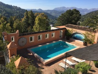 Magical Moorish-style apartment in Gaucin village with pool & exotic garden.