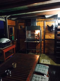 Indoor braai/BBQ area also with stunning views