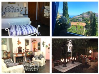 TAORMINA CASA DORA Sea View Terrace, Garden + Free Parking Taormina