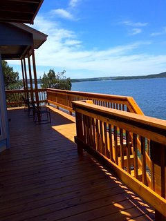 Large deck with panoramic lake views!