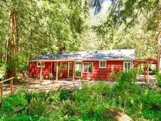Charming riverfront cabin w/ firepit, updated amenities, patio, & grill!