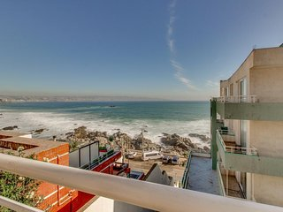 Oceanfront condo w/ shared pool & hot tub - ocean views from private balcony!