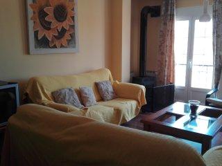 Apartamento amplio y confortable con barbacoa,chimenea y terraza amplio y equipa