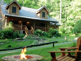Secluded Cabin on Creek - 150 Acres near Asheville
