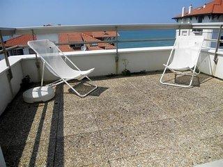 Résidence Albatros 2 : terrasse avec aperçu mer pour les vacances