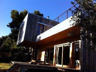 suite contemporaine dans maison bois : la campagne au cœur de la ville