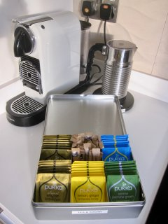 A selection of teas also complimentary.