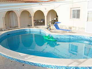 Spacious villa with pool access