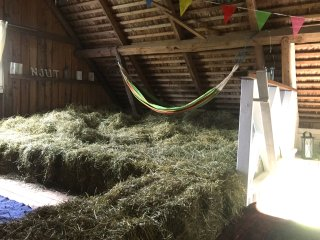 Sleep in our cozy hayloft. Enjoy the Swedish countryside as it ´s best