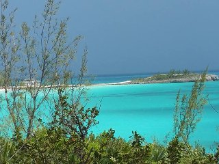 Private Beach and Cay at the Sayle Point House, Rainbow Bay, Eleuthera Bahamas