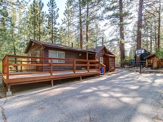 Rustic dog-friendly cabin w/ deck and yard near lake and ski slopes!