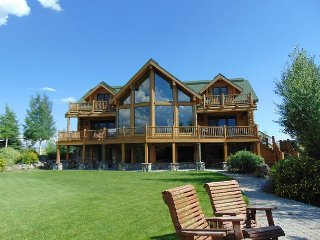 "Wolf River Ranch is luxurious 10"" log cabin on the World Famous Henry's Lake."