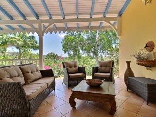 Villa créole face à la mer, petit paradis caribbean