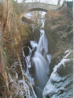Aira Force, near Ullswater, Lake District National Par, UNESCO World Heritage designated site.