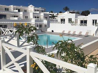 La Gangita, een prachtige bungalow aan zee in La Concha, met zwembad en Wifi
