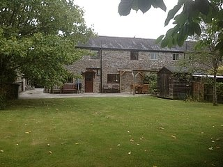 Converted Stone And Timber Barn In Rural Setting On Edge Of Dartmoor