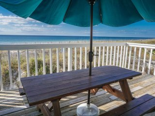 Enjoy The Beach Front View While Dining On Your Deck
