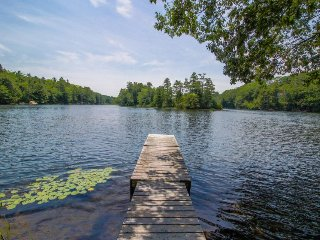 Lakefront home w/ a private dock, canoe, kayak, fishing equipment & two decks!