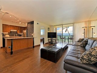 This ocean front property offers air conditioned comfort  Royal Kahana #209
