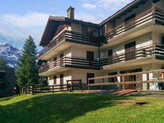 Apartment in Valtournenche, Italy, with terrace and stunning mountain views