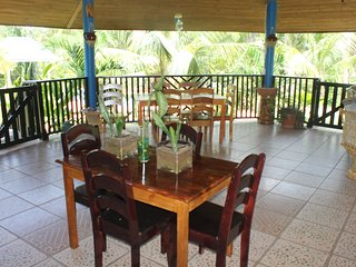 Dining area under the Restaurant Palapa
