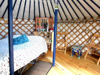 The Blue Yurt at Cabot Shores