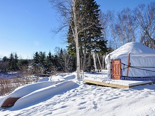 The Little Orange Yurt at Cabot Shores