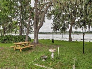 The property backs up to beautiful Lake Rousseau.