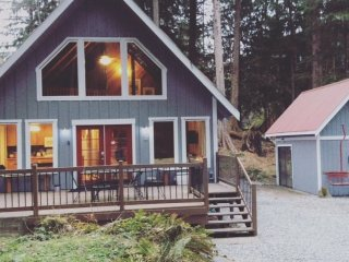 Mt. Baker Rim Cabin #99 - Charming Woodsy Cabin with a Hot Tub & Wi-Fi!