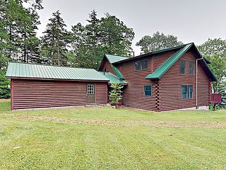 Secluded 4BR/3BA Cabin w/ Deck, Grill, Subtle Water View ? Minutes to Town