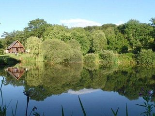 South Combe Waters - Norwegian Lodges, exclusive fishing, peace & tranquility