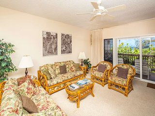 See the Surf! Casual Suite w/Lanai, Full Kitchen, Ceiling Fans, WiFi–Kaha Lani
