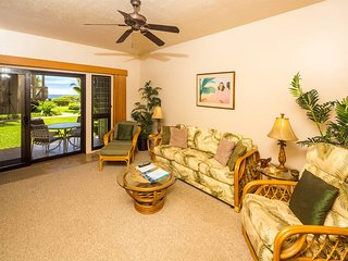 Hawaii Style w/Lawn off Lanai, Full Kitchen, WiFi, Ceiling Fans, DVD–Kaha Lani