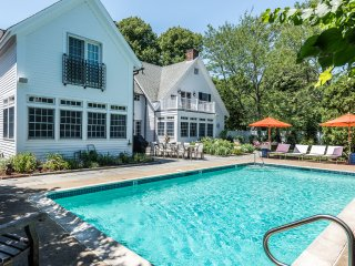 YASED - STUNNING EDGARTOWN VILLAGE LUXURY COMPOUND, HEATED POOL BORDERED BY LARG