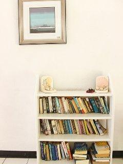Bookshelf by the entrance