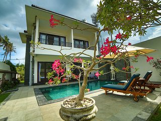 New spacious private 3 bedroom villa 600m to beach