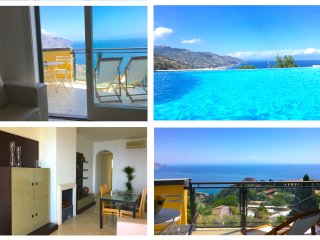 TAORMINA PANORAMIC FLAT  Sea View Terrace Pool + Free parking