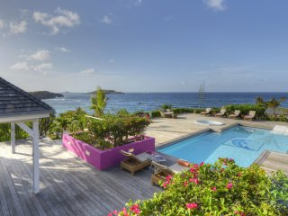 This villa rental is ideal for a family on Holidays in St Barts island