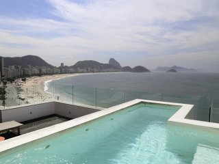 Rio067-3 bedroom penthouse beachfront in Copacabana post 6 with pool